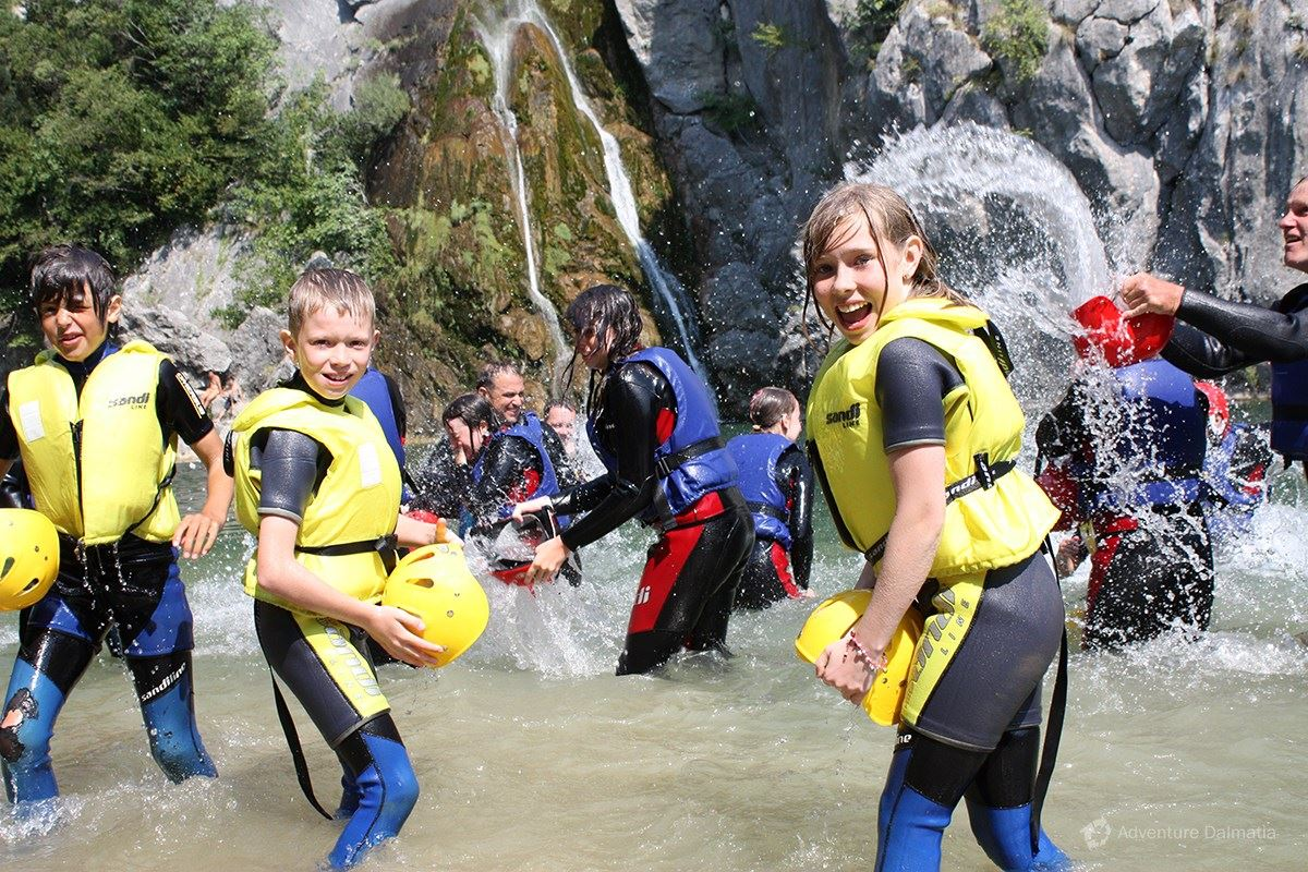 School & Youth adventures - Canyoning day trip, River Cetina