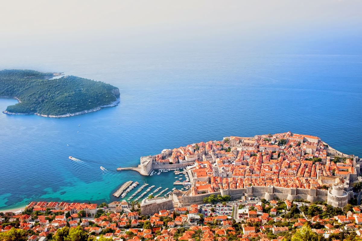 Lokrum and Dubrovnik city walls