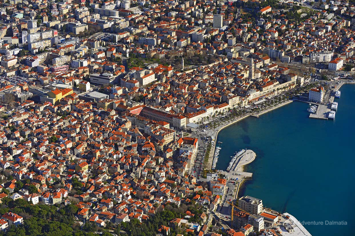 City of Split, bird's-eye view