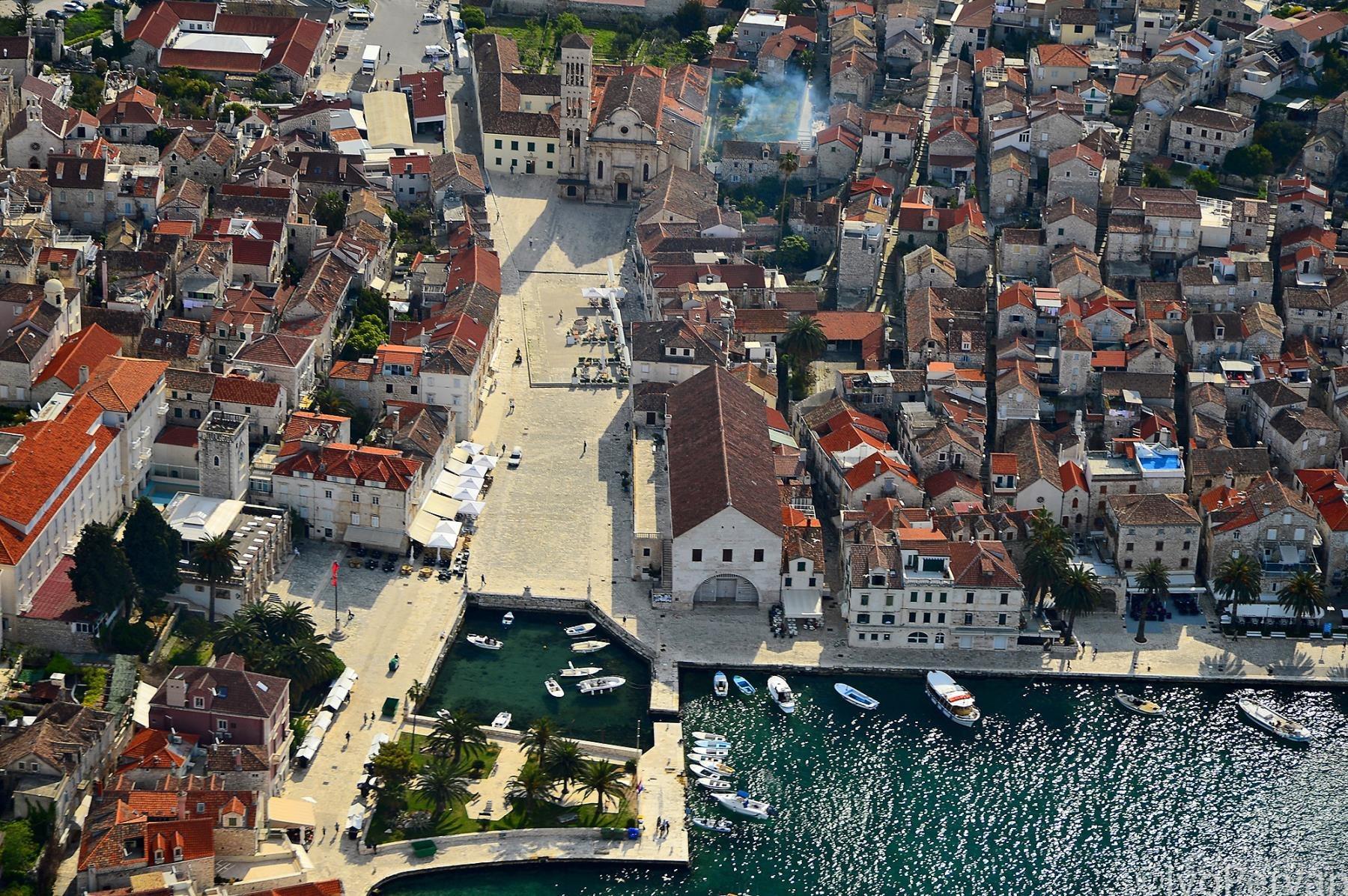Hvar town, bird's-eye view