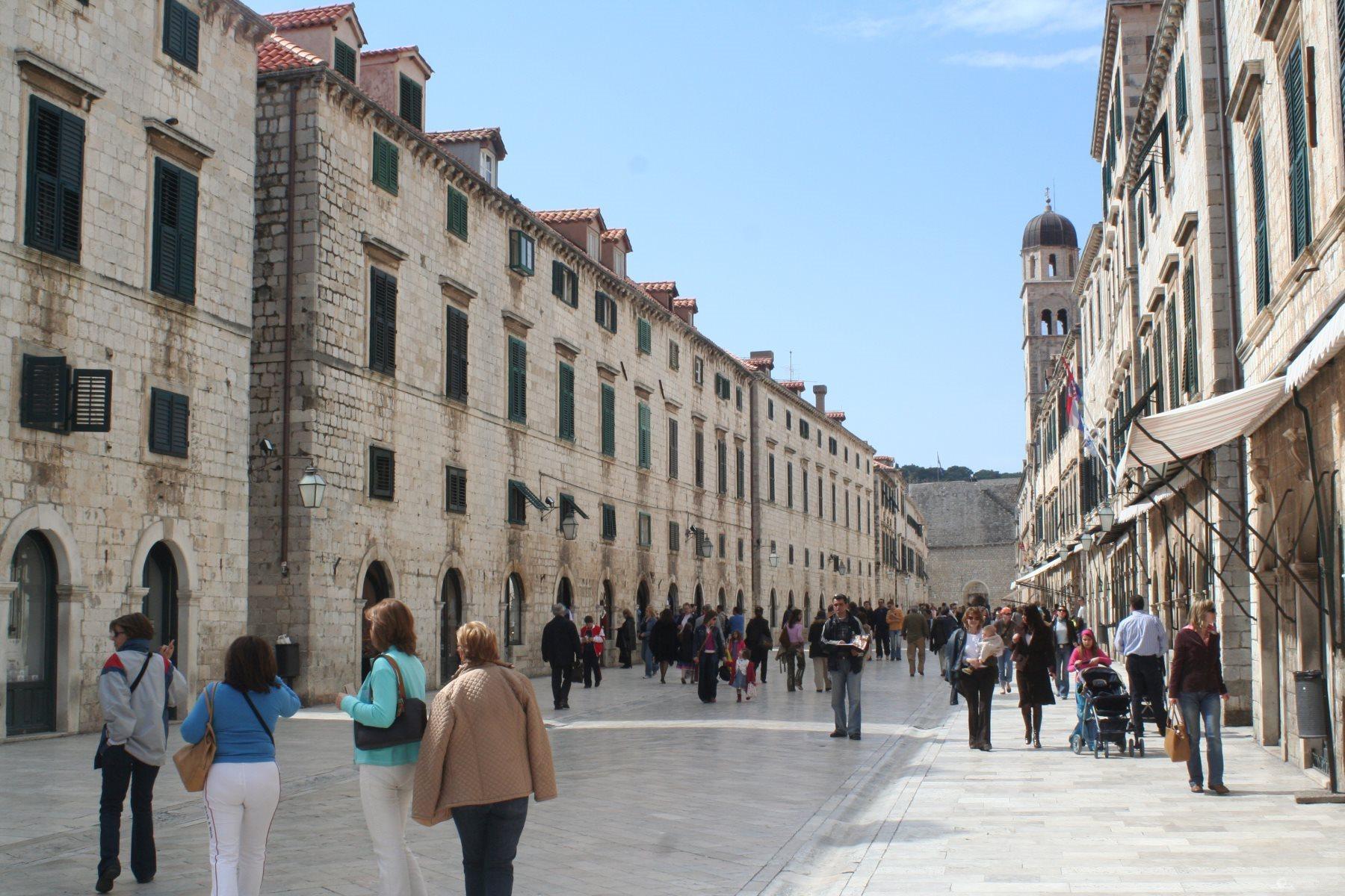 Stradun, main street in Dubrovnik Old Town