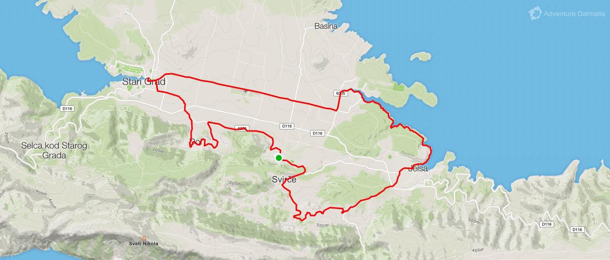 Close-up tour route