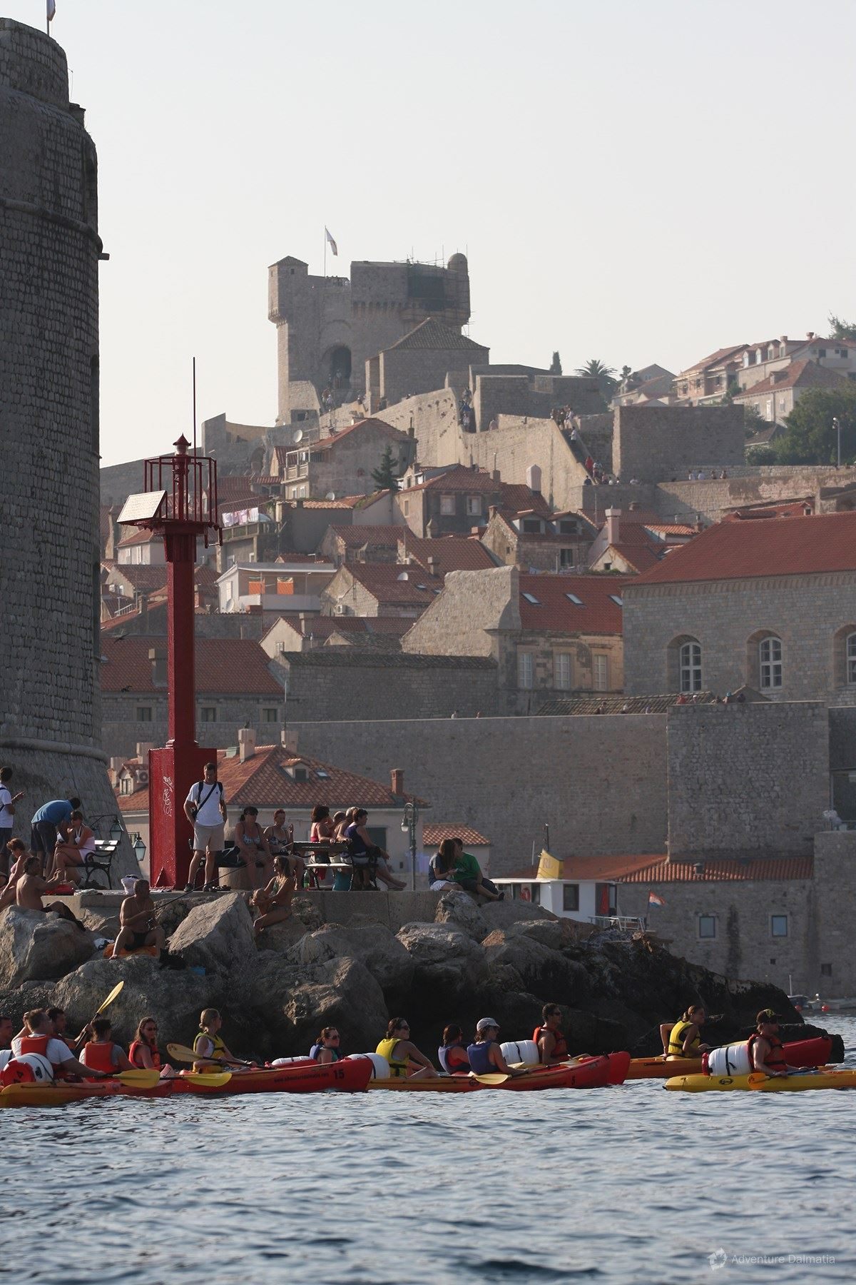 A view of the old town from a kayak