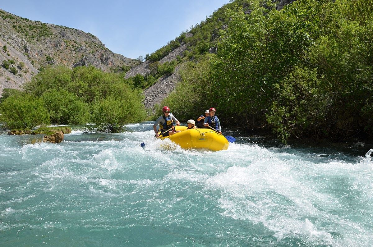 Zrmanja is easy and safe enogh for geginner rafters but its scenery makes it also very exciting