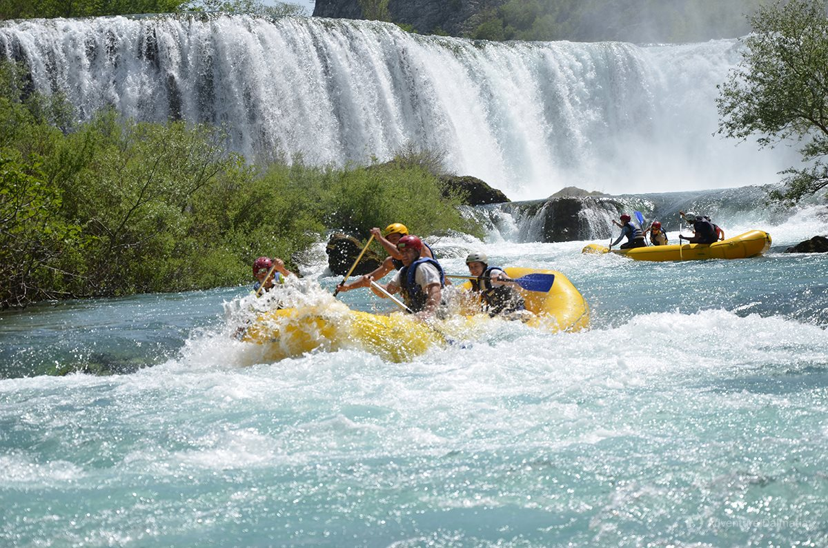 Rafting is very exciting when the water level is higher