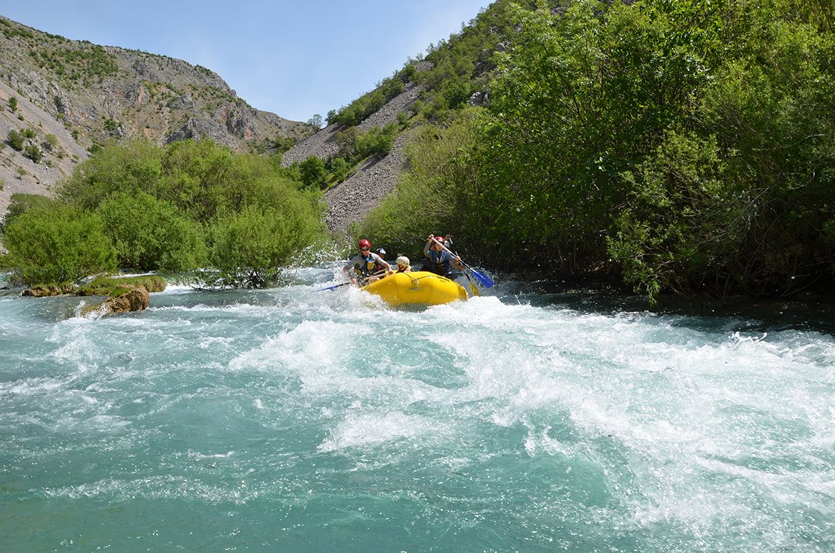 White waters of Zrmanja river