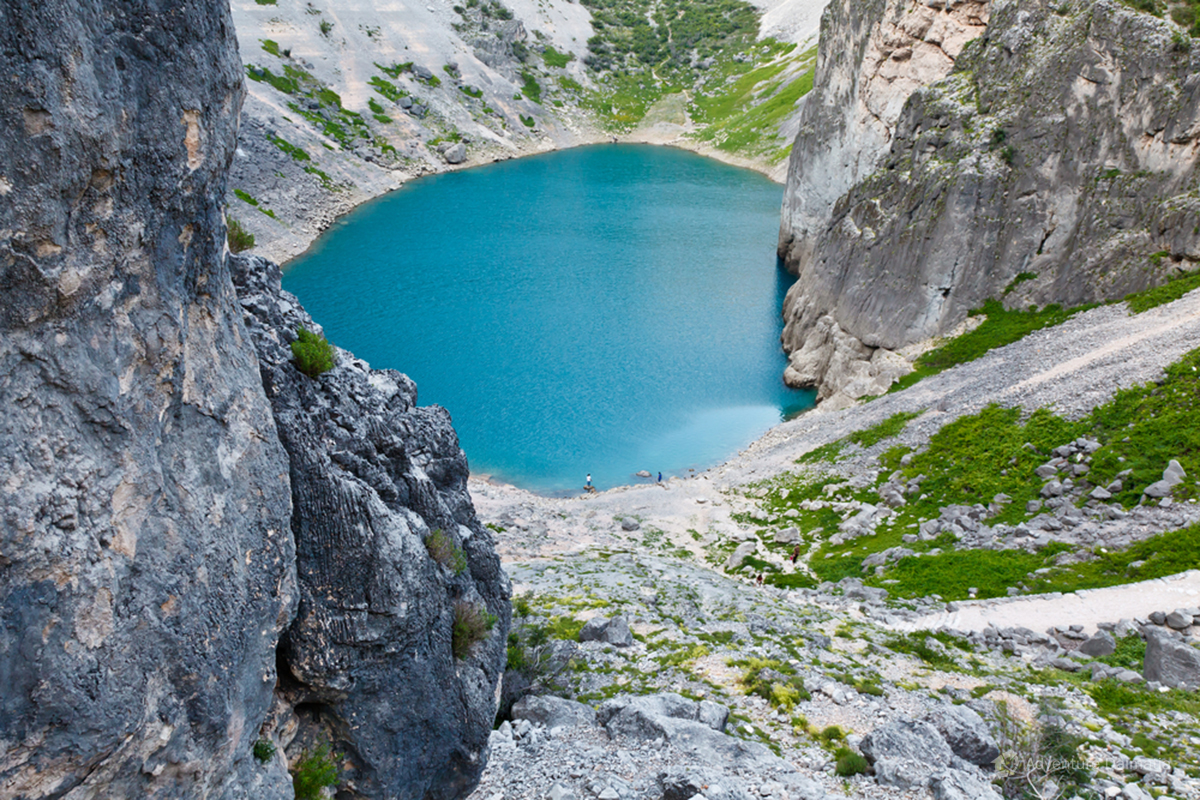 Blue lake near Imotski town