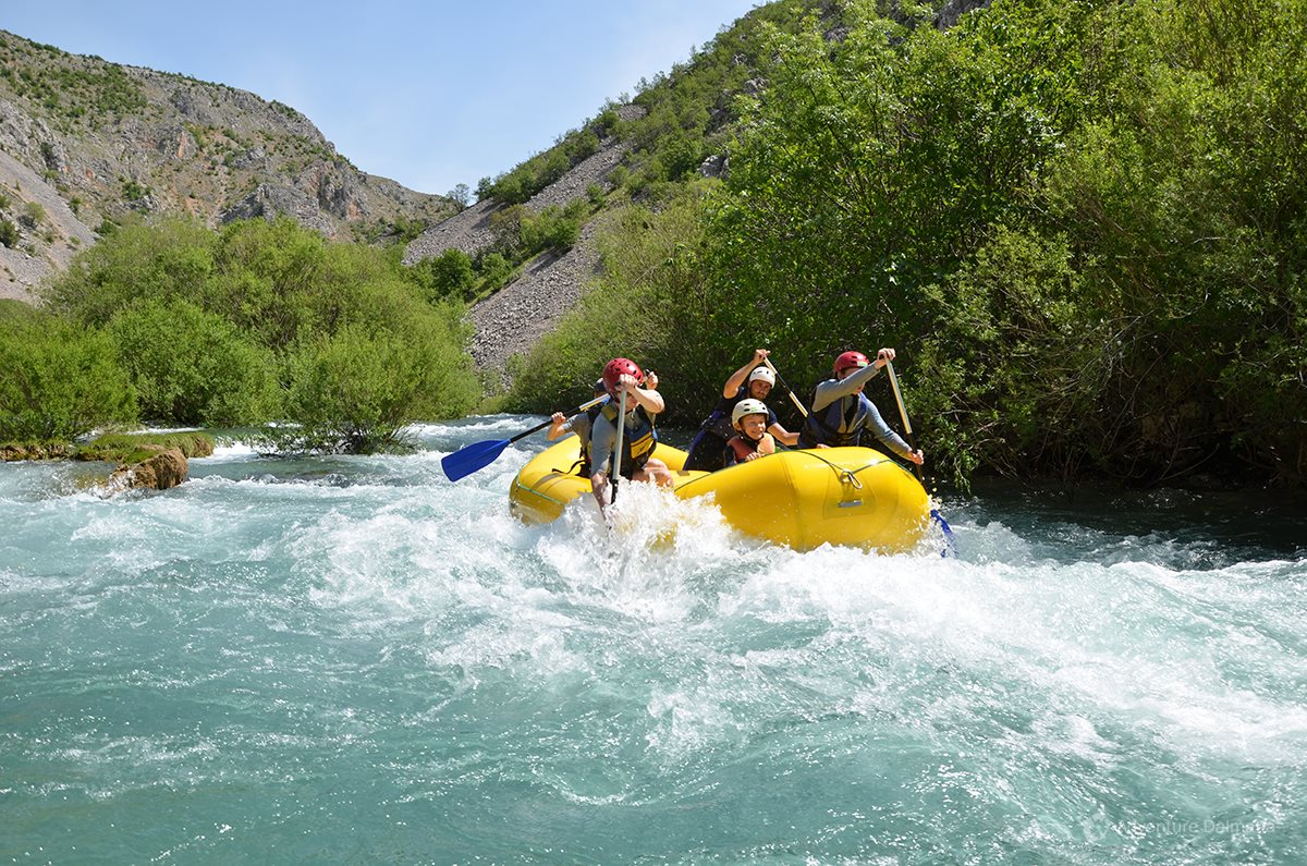 Minimum age for rafting is 6 years if accompanied by parents