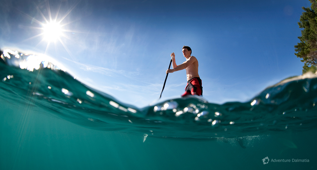 The equipment we provide consists of neoprene suit, paddle and paddling board
