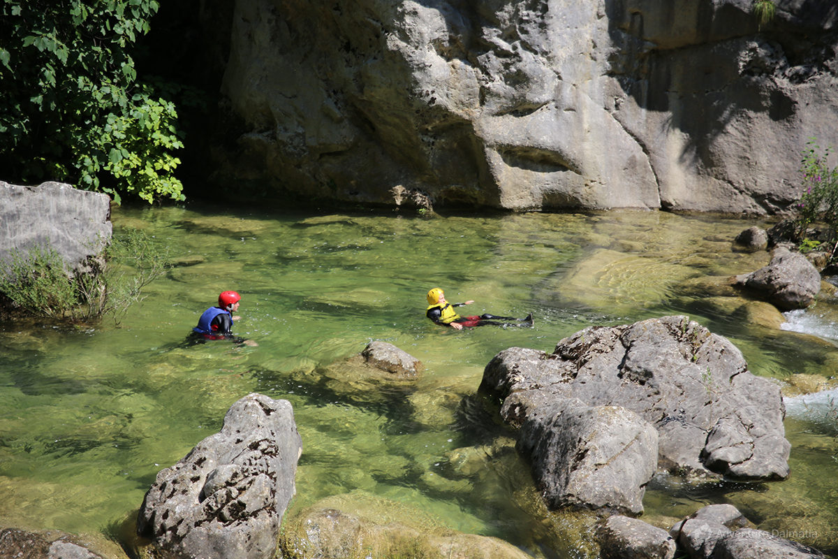 Canyoning tour on Cetina river, near Split