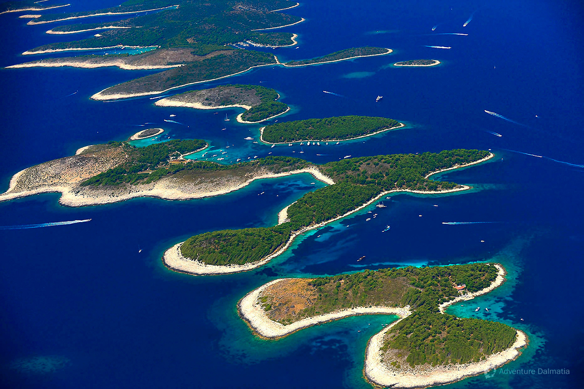 Pakleni islands archipelago in front of Hvar