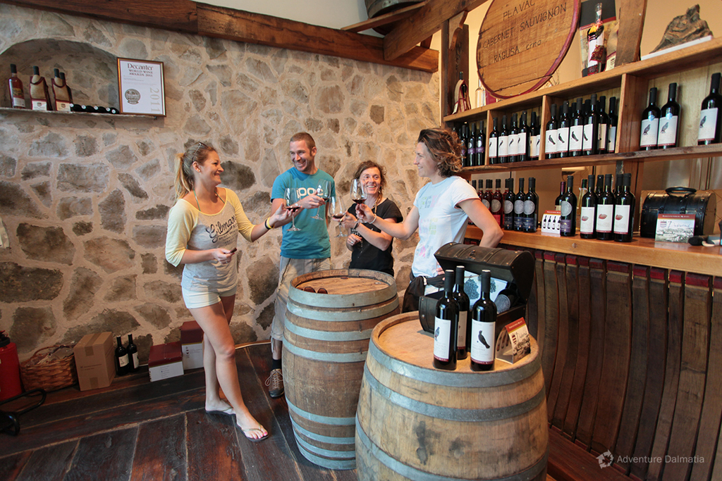 Biking tour in konavle valley near Dubrovnik. Wine tasting included.
