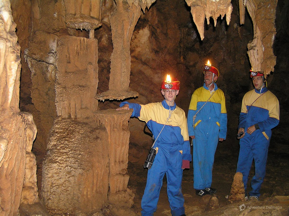 All you need for caving activity is clothes you can get dirty in and good shoes