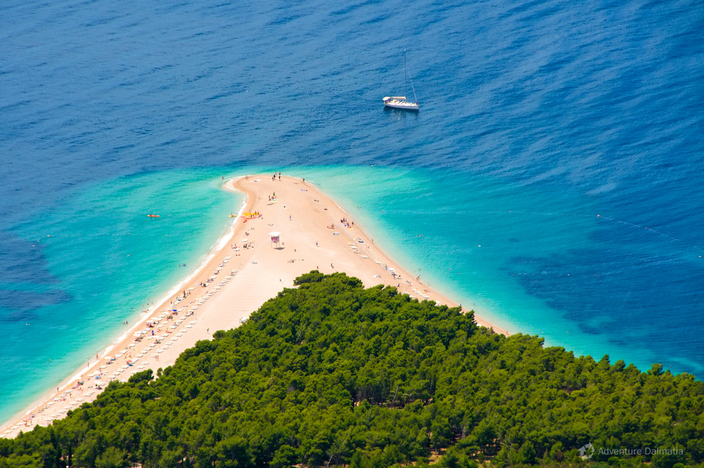 Golden beach on Bol, Brač island