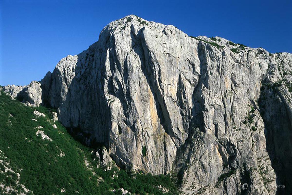 Anića kuk, the biggest rock on Velebit, approx 300 m.a.s.l.