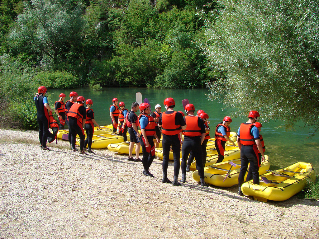 Our rafting tour starts from hidden river beach