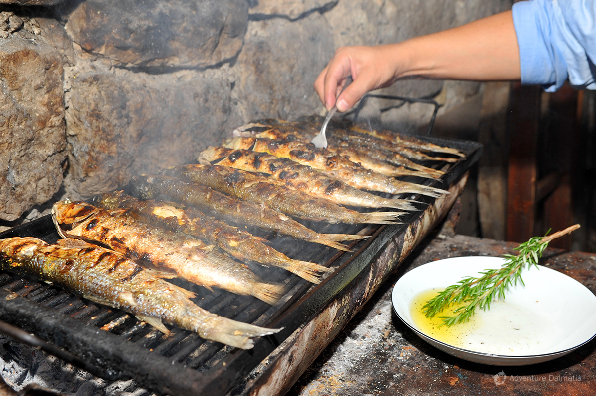 Most famous dish in Dalmatia is absolutely grilled fish
