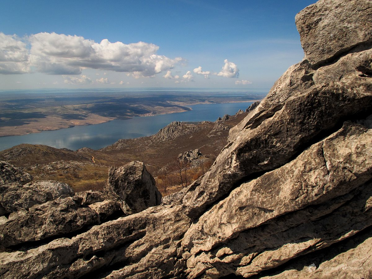 View of the channel below Mount Velebit