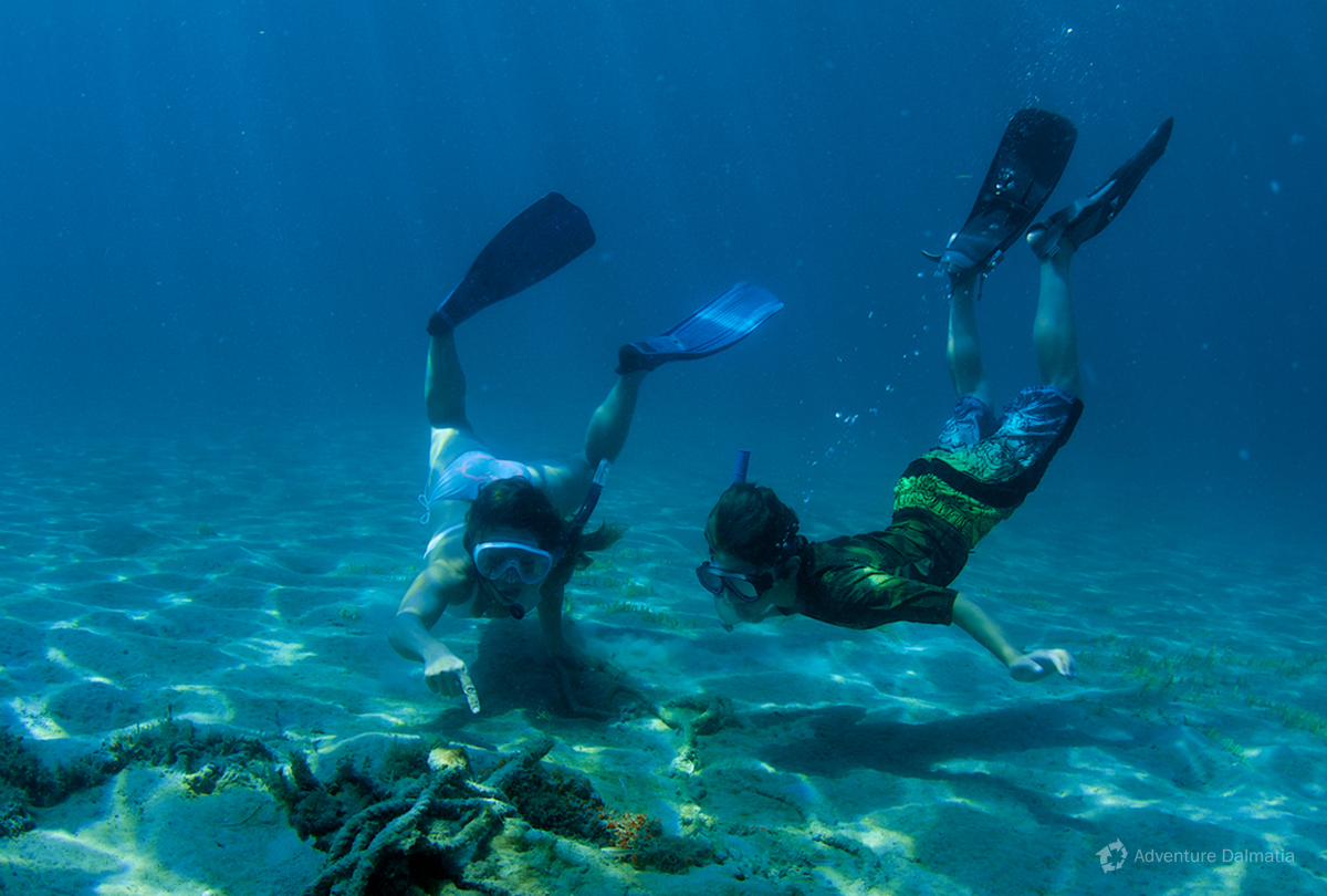 Snorkeling is simple and great way to explore the underwater of the Adriatic sea.
