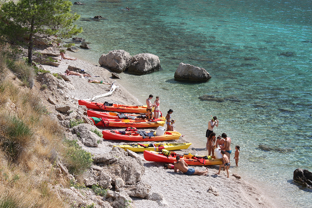 Sea kayaking & snorkeling Brela.