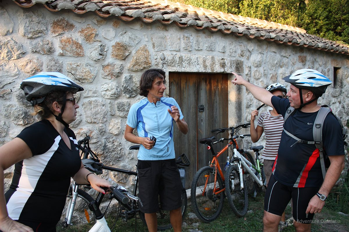 In front of the old mill, biking tour with Adventure Dalmatia