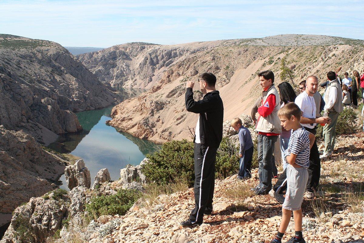 View point near the canyon of Zrmanja river - Jeep safari south Velebit