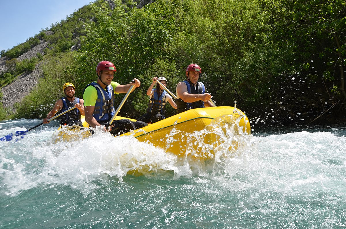 Great rafting experience 45minutes from the city of Zadar