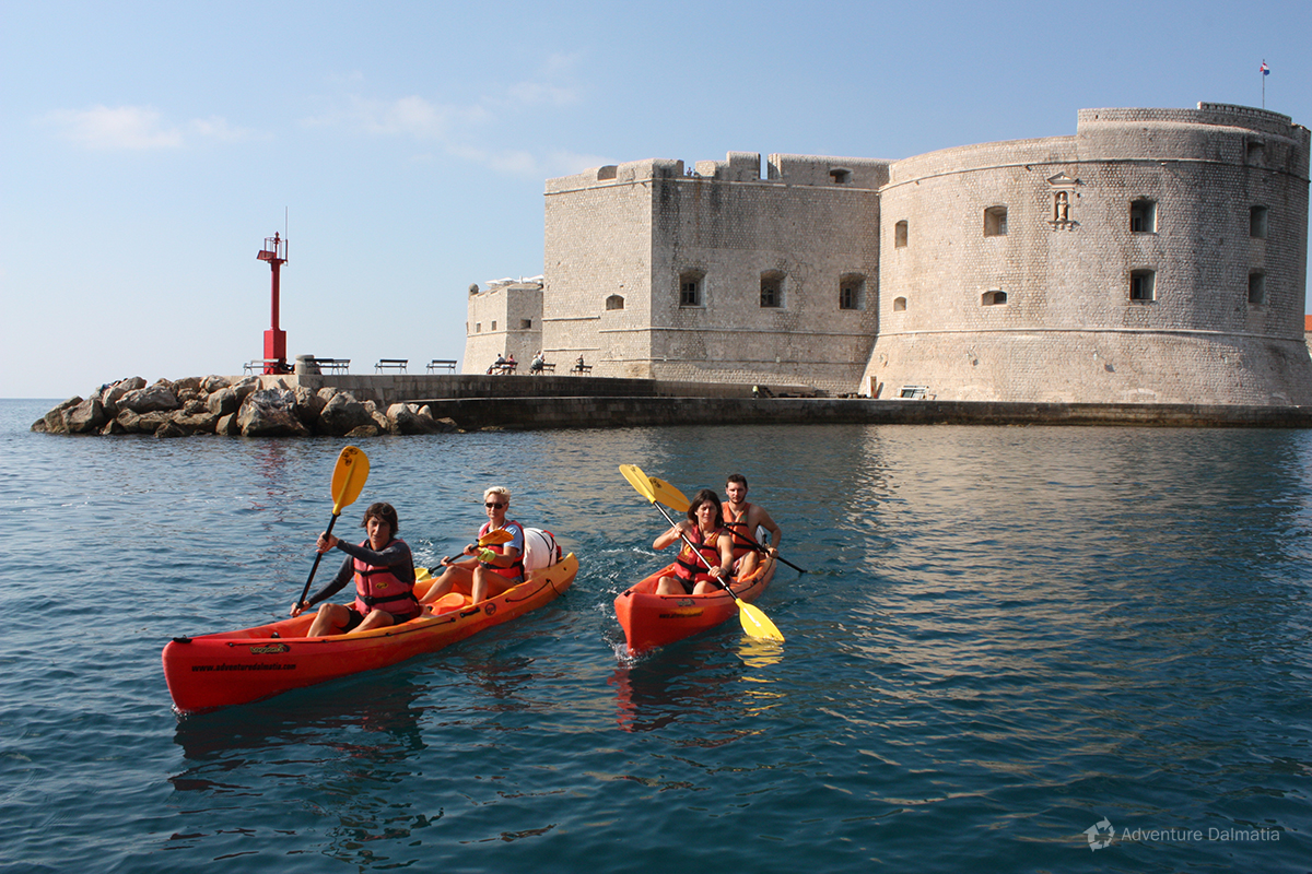 Sea kayaking Dubrovnik city walls - Fortress Saint Ivan