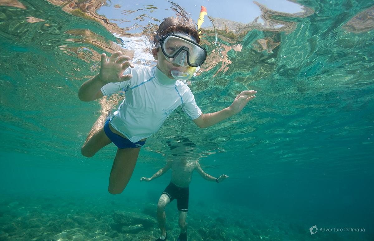 Snorkeling in Brela