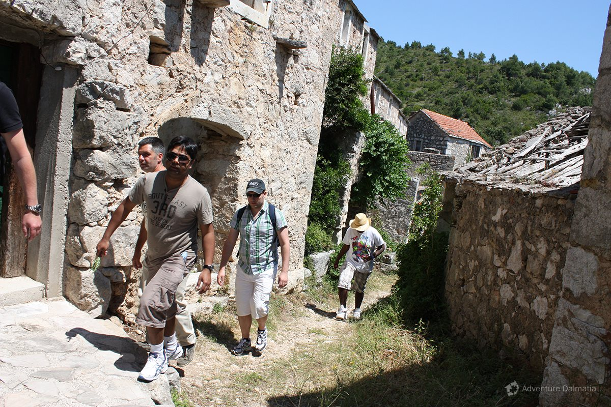 Hiking tour - visiting an old village