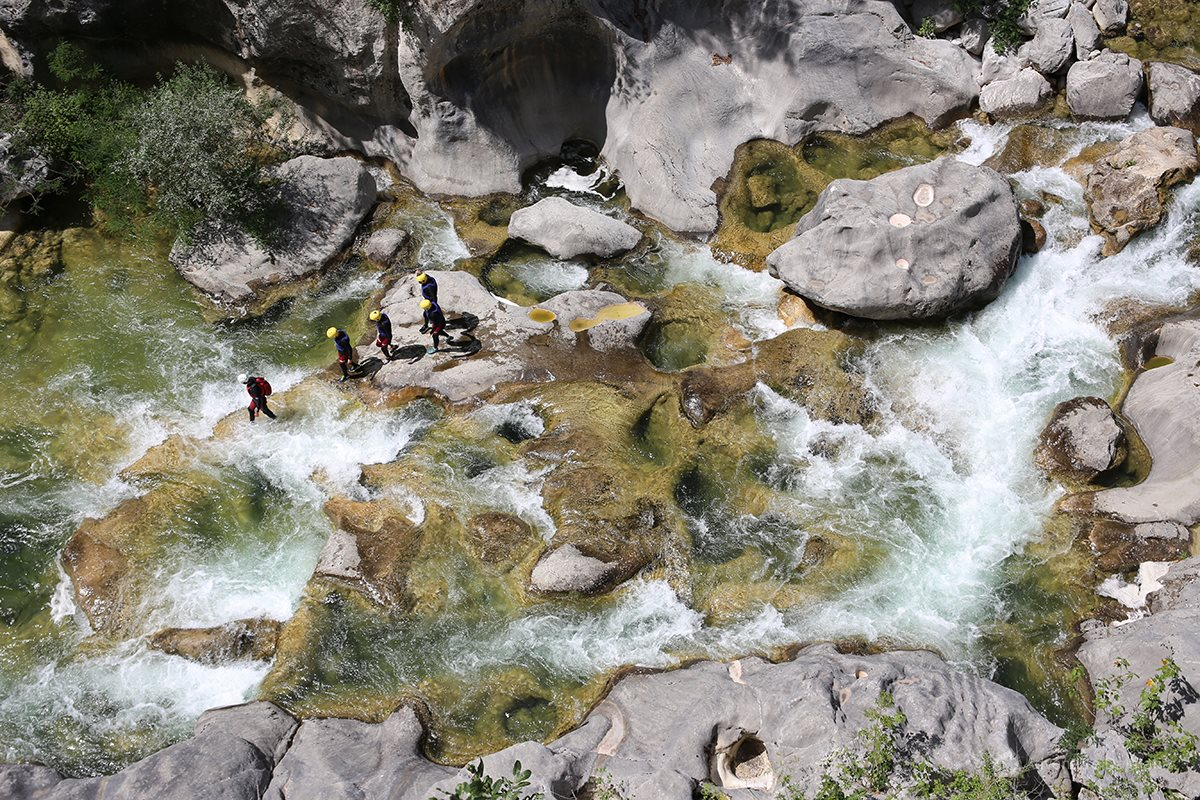 Beautiful white waters of Cetina river