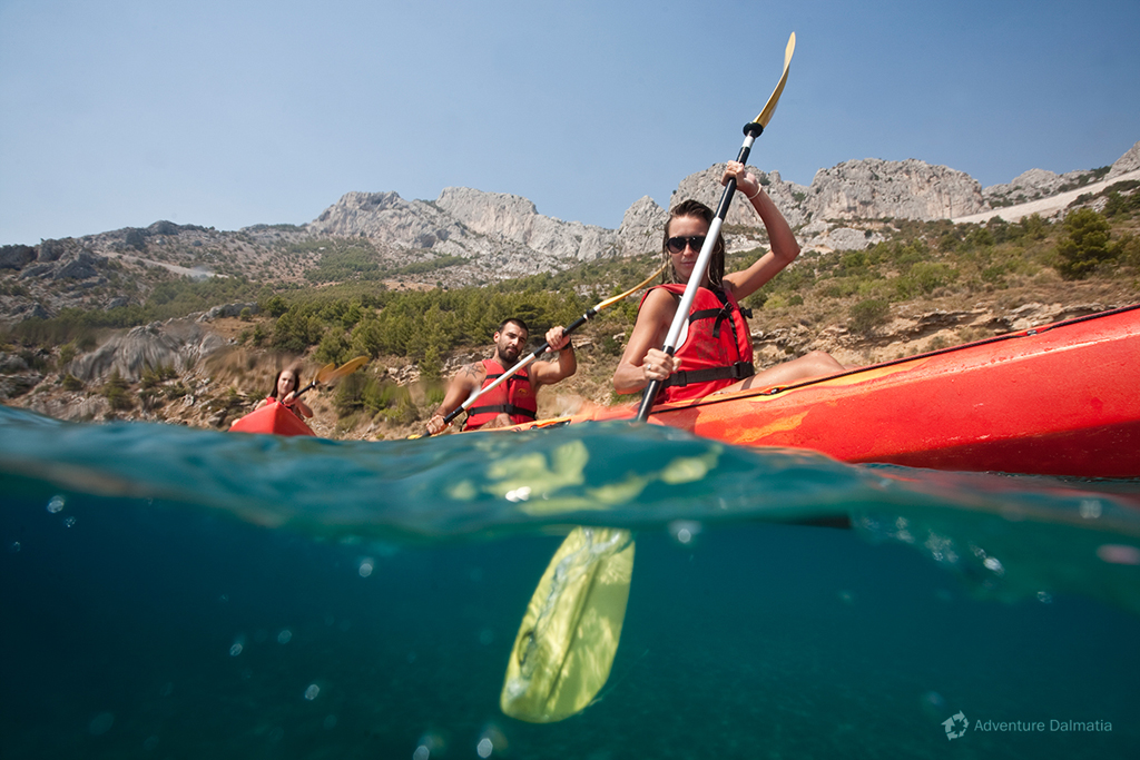 Sea kayaking in Brela. Sea kayaking & snorkeling tour.