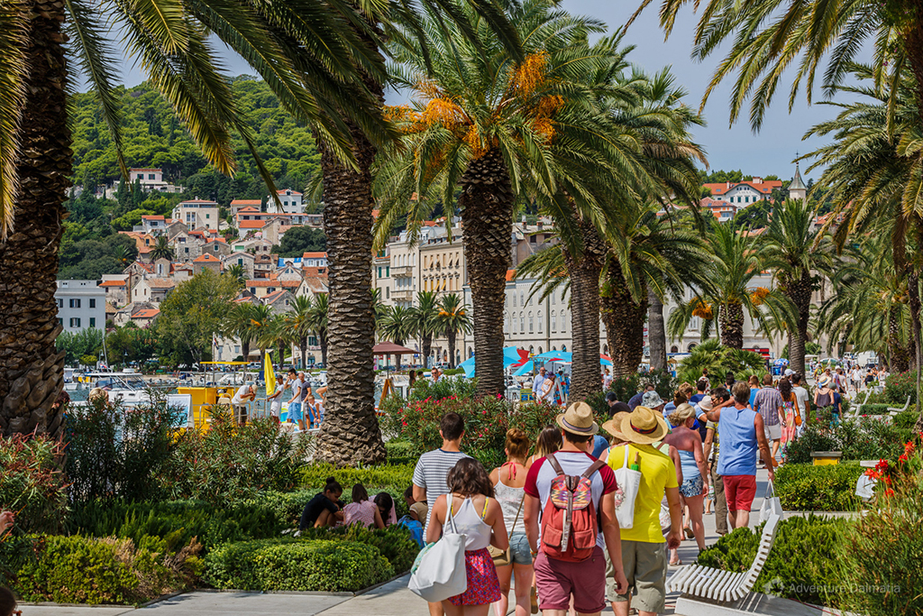Promenade in Split during summer season