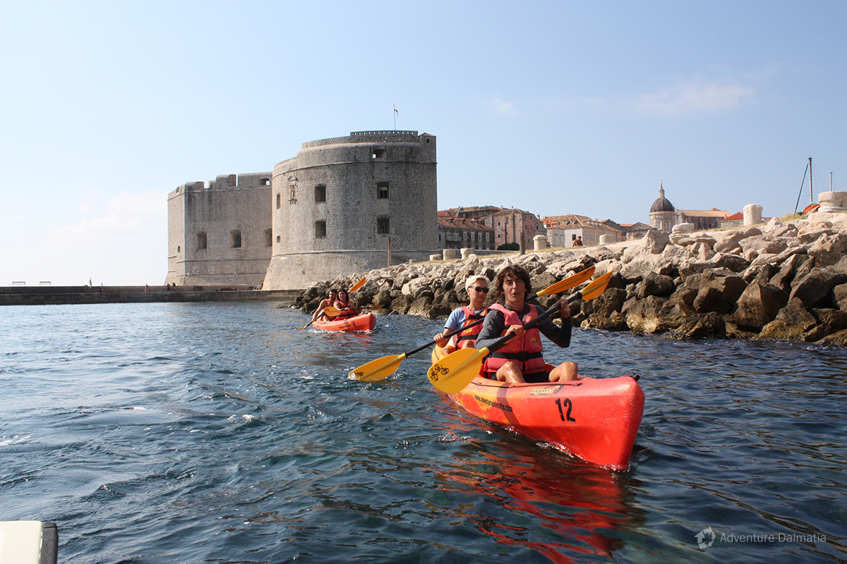 Kayaking tour in Dubrovnik