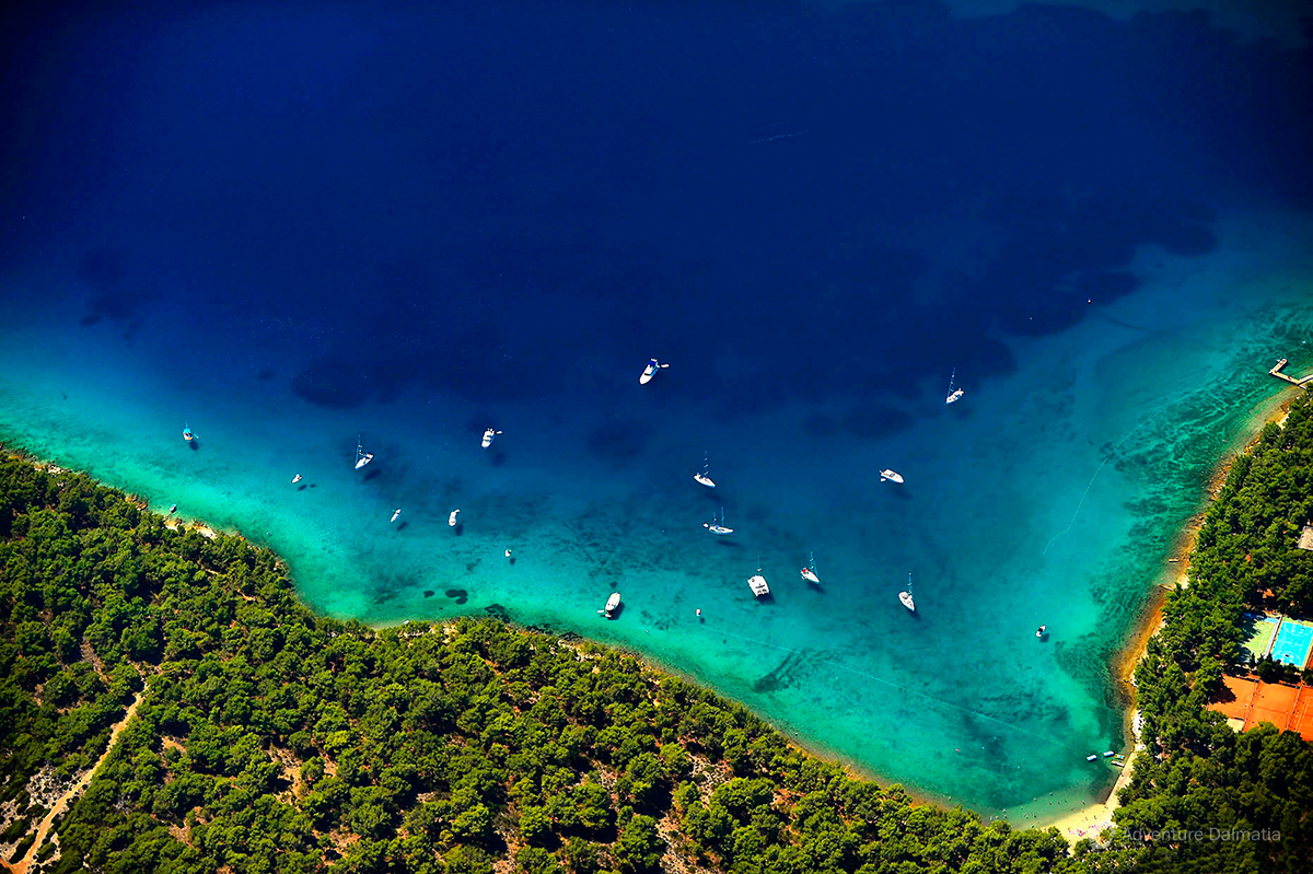 Croatian coast line of the Adriatic is 1777km long. Average summer temperatures of the sea are betwe