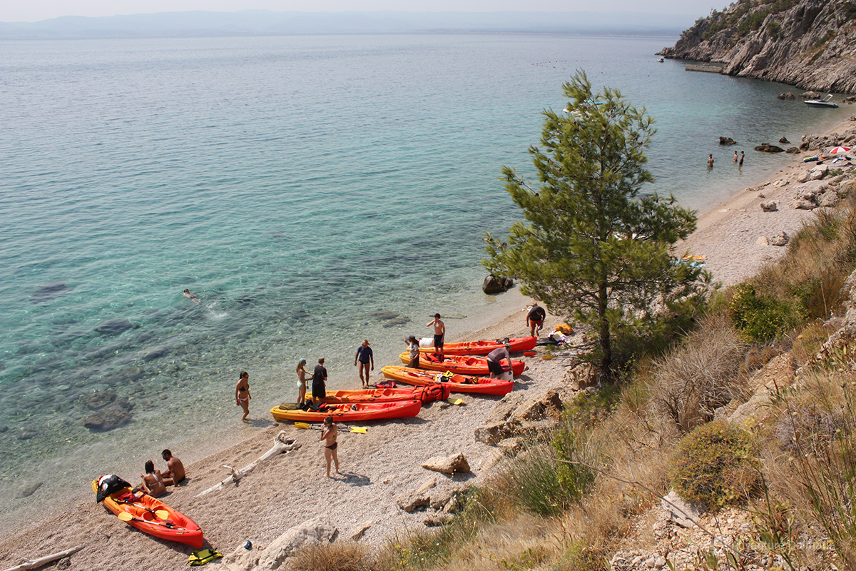 Sea kayaking break near Vrulja cave