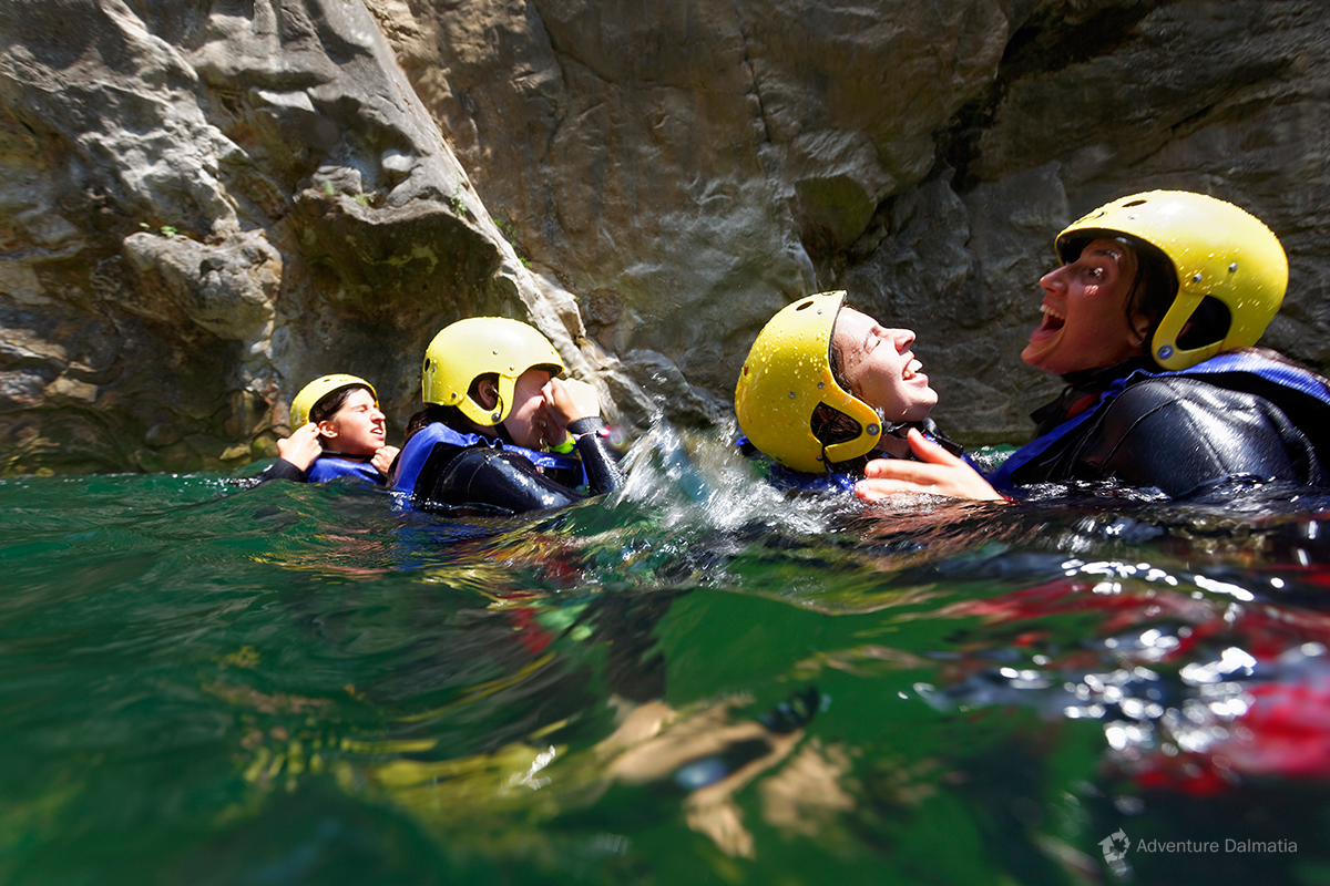 Fun and excitement on a Canyoning tour on Cetina river