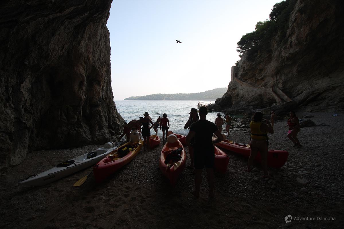 Swimming break in the cave