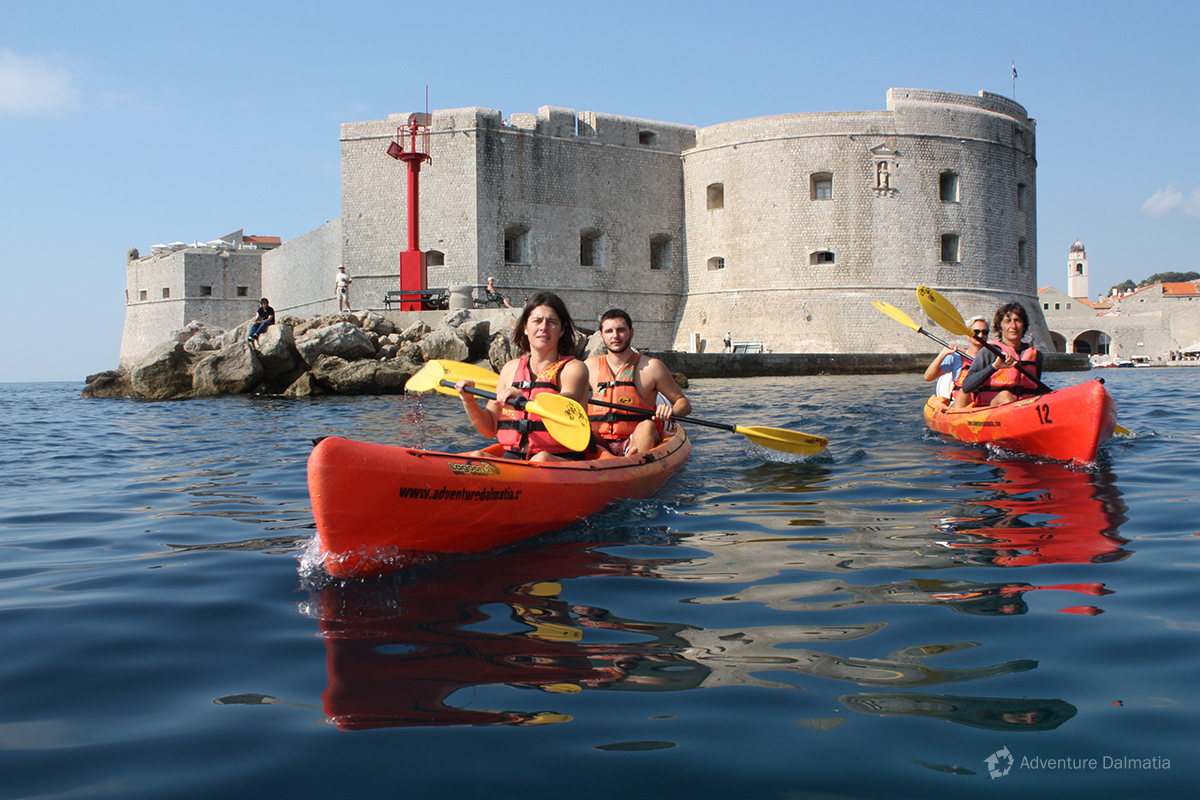 Paddling around St. Ivan fortress in Dubrovnik