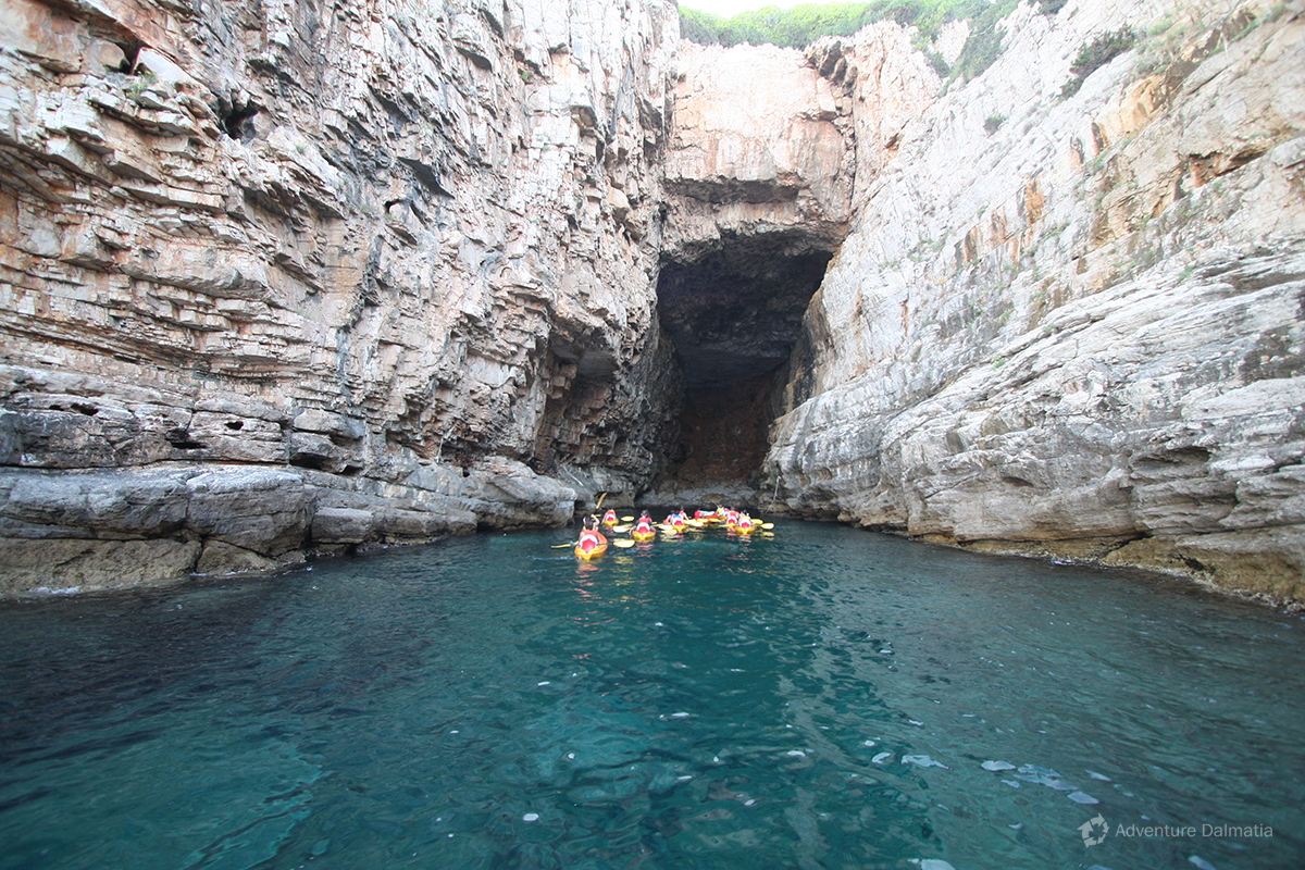 Cave visited on a sea kayaking tour with Adventure Dalmatia