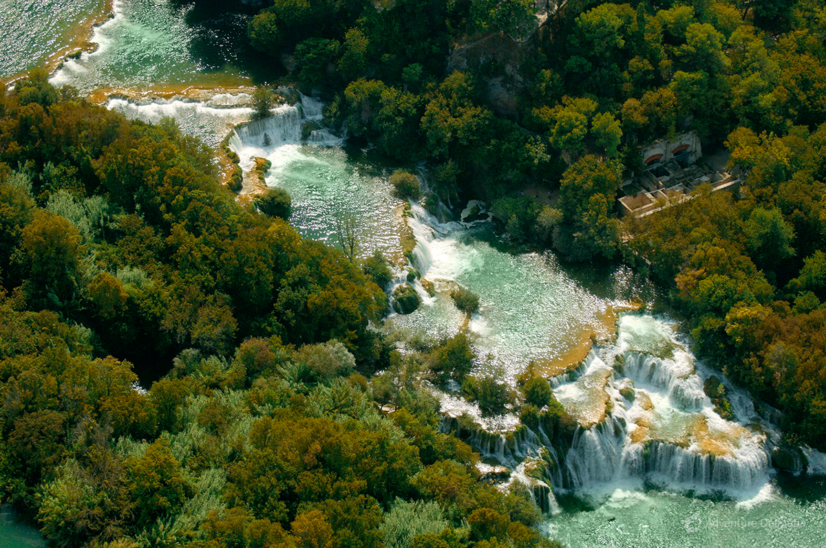 National park Krka near the city of Sibenik is the most famous park in Dalmatia region