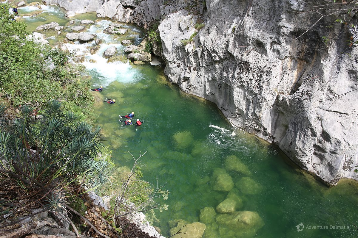 Easy floating through Cetina river canyon