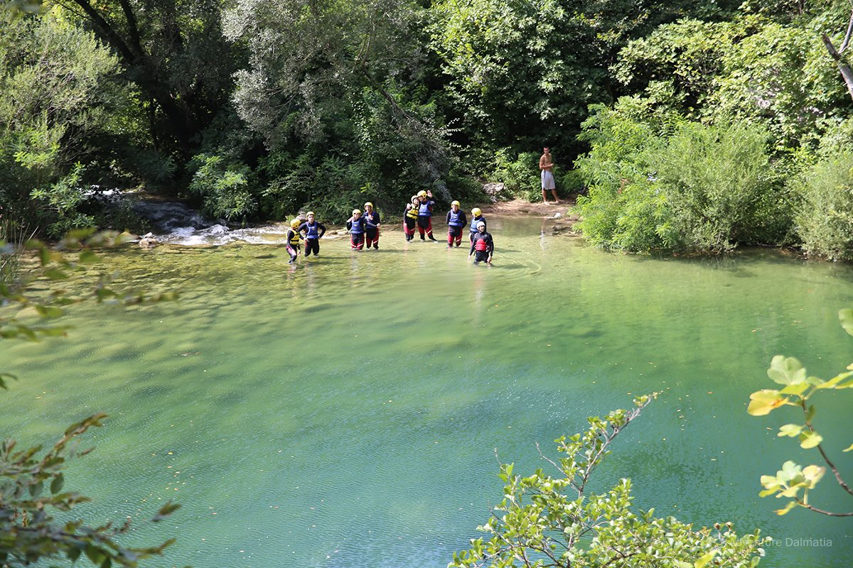 End of the Cetina river canyoning tour