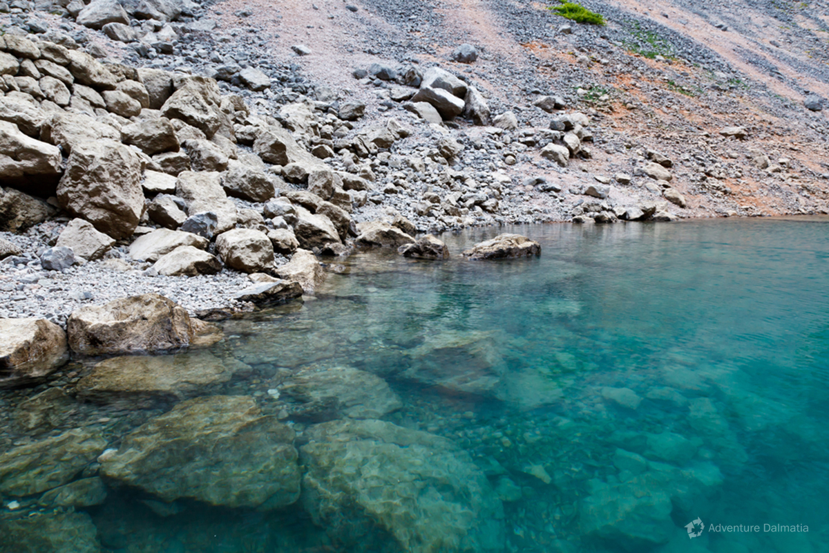 Clean waters of the Blue lake near Imotski