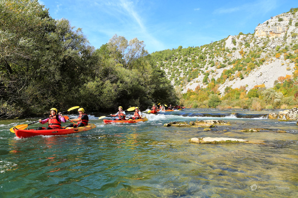 Canoe Safari on Cetina River - canoeing through calmer parts of the river