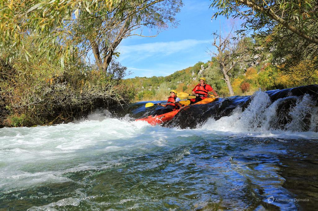 Canoe Safari on Cetina River - going through rapids