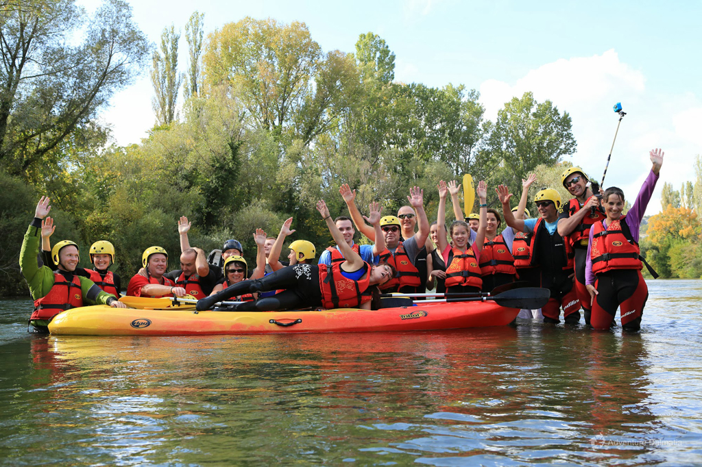 Canoe Safari on Cetina River - saying goodbye at the end of the tour