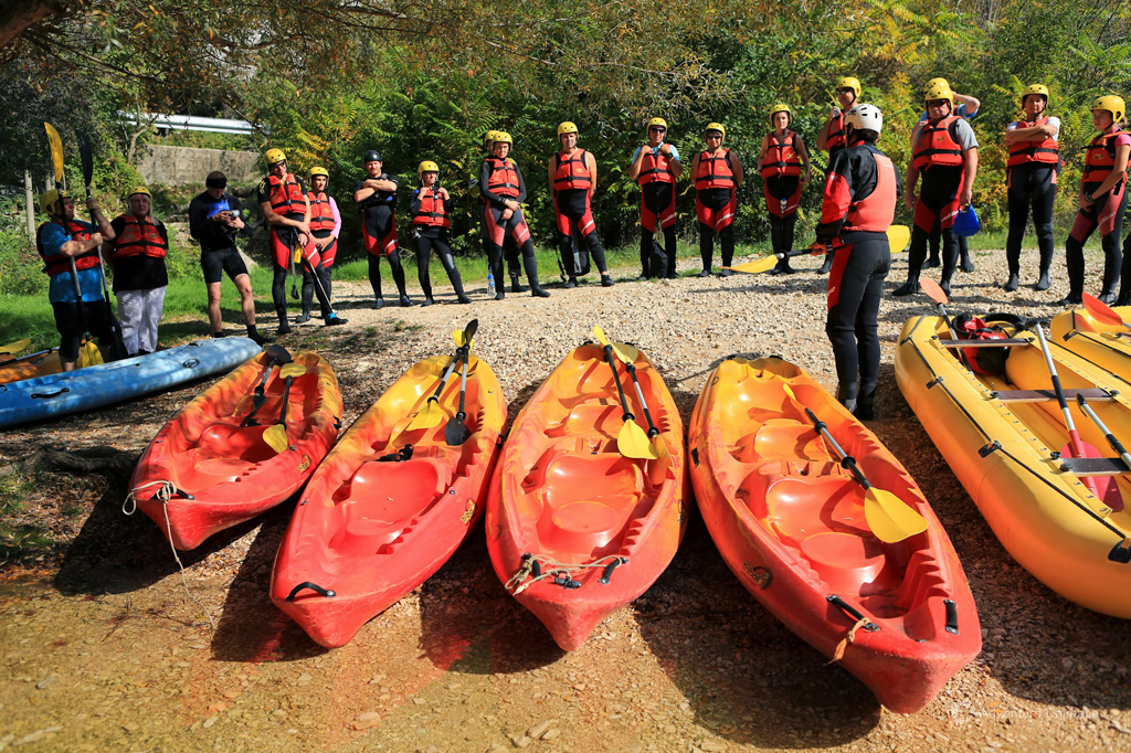 Canoe Safari on Cetina river - briefing before the beginning of the trip