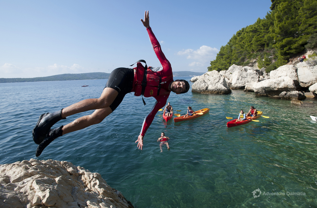 Cliff jumping in Split