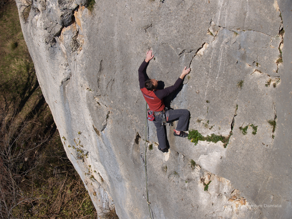 Climbing for people with experience, Adventure Dalmatia climbing activity